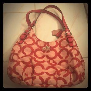 Coach pink shoulder purse